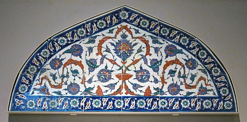 Iznik Tiled Lunette Panel