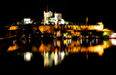 bodrum castle at night A Day on a Gulet