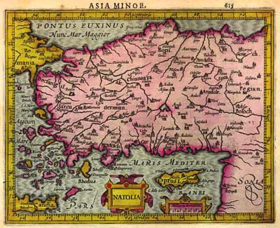 Antiquarian Map of Asia Minor