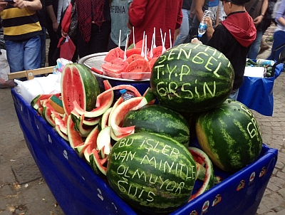 Watermelons in Taksim Square